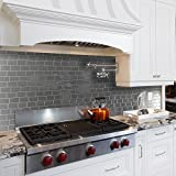 Smart Tiles Metro Grigio 11.56 in. W x 8.38 in. H Peel and Stick Decorative Mosaic Wall Tile Backsplash (12-Pack)
