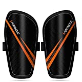 PORTHOLIC Kids Soccer Shin Guards, Kids Soccer Shin Protective Pads Board Comfortable Lightweight and Breathable for 4-9 Years Old Boys Girls Children Toddler (XS,Pair)