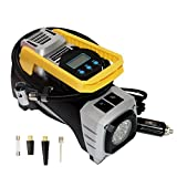 Bibowa Digital Auto Air Pump for Car Tires,Tire Pump Cigarette Lighter Tire Inflator with Gauge 12V DC Portable Car Air Compressor for Spare Tire,Trailer,Dirt bike,Atv,Jeep,RV and Other Inflatable