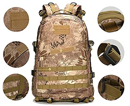 Amazon.com : BIBU 50L Military Tactical Backpack Large 3 Day Assault Pack Rucksacks Molle Bug Out Bag for Outdoors Hiking Camping Trekking Hunting Riding ...