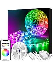 Govee Tiras LED 5M Música Impermeable con APP, Tira LED 5050 SMD RGB Multicolor Micrófono Incorporado, Decoración LED Flexible para Navidad, Hogar o Cocina, 12V 1.5A