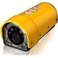 Waterproof 1280 x 720P Sport HD Mini DV Digital Video Camera - Yellow
