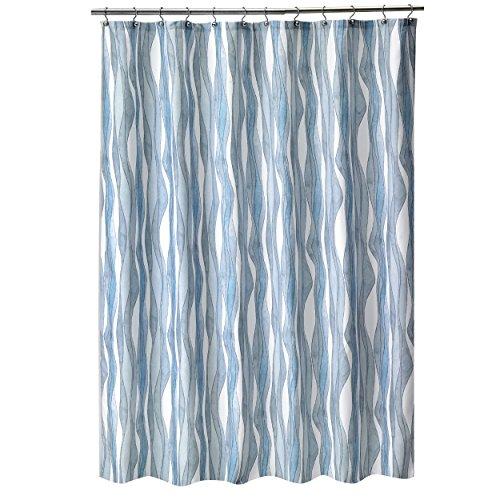 Shell Rummel Tidelines Shower Curtain, Blue