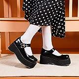 heelchic Women Sexy Mary Janes Platform Shoes