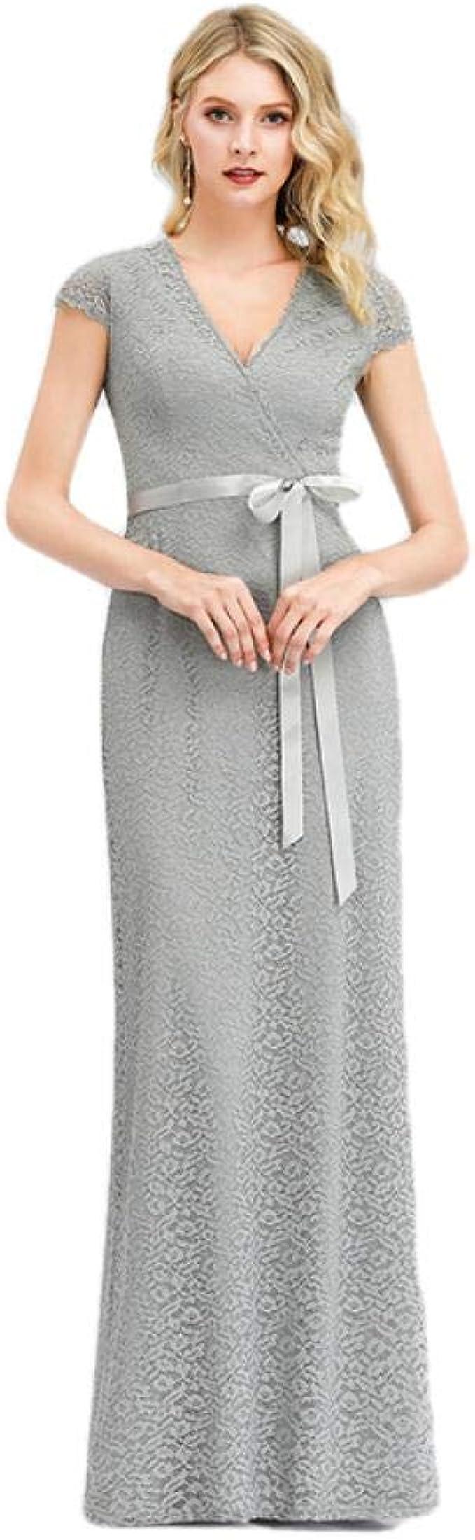 Brautkleider Cocktailkleider Für Damen Elegante Graue Spitze