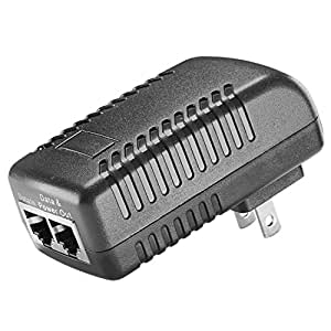 NEEWER Autoranging Switching 48V-0.5A Wall Plug POE Injector for IP Phone / Security IP Camera