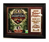 Encore Select 144-49 NCAA Florida State Seminoles Champions Deluxe Stat Frame, with Multiple Images, 11-Inch by 14-Inch