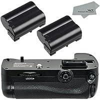 Nixxell NX-NBGD7100 Premium Replacement Battery Grip for Nikon D7100 DSLR Camera (Nikon MB-D15 Replacement) + 2 Nixxell EN-EL15 batteries + Microfiber Cloth