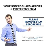 """Sneeze Guard   24"""" Wide x 32"""" Tall   Portable"""