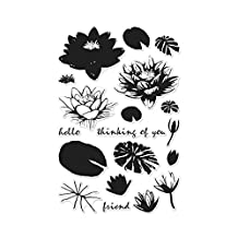 Hero Arts CM128 Color Layering Water Lilies Photopolymer Stamps
