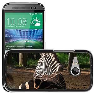 Super Stella Slim PC Hard Case Cover Skin Armor Shell Protection // M00149783 Zebra Animal Stripes Striped // HTC One Mini 2 / M8 MINI / (Not Fits M8)