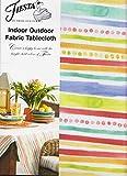 Fiesta Garden Stripe Umbrella Tablecloth Outdoor Fabric (70 Round Umbrella)