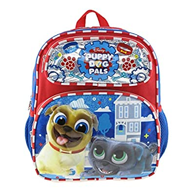 Disney's Puppy Dog Pals 12 inch Toddler Size Backpack - Paw Prints A16920 | Kids' Backpacks