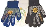 Three Pairs Prints Fleece Polyester with Microfiber Lined Very Warm Boys Gloves