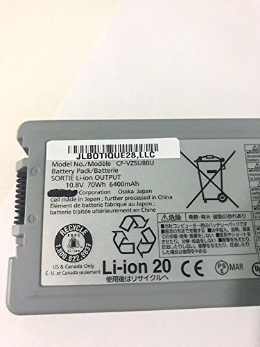 JLBOTIQUE28,LLC- BRAND NEW - CF-VZSU80U - FOR PANASONIC CF-C2 Toughbook Standard Battery 10.8V, 70Wh, 6 CELL, 6400MAH. CF-VZSU80U by JLBOTIQUE28,LLC