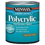 Minwax 24444 Semi Gloss Polycrylic Protective Finishes, 1/2 Pint