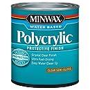Minwax 244444444 Minwaxc Polycrylic Water Based Protective Finishes, 1/2 Pint, Semi-Gloss