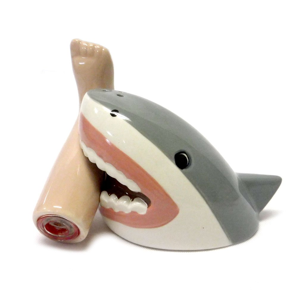Shark Attack Magnetic Salt and Pepper Shaker Set by CAS