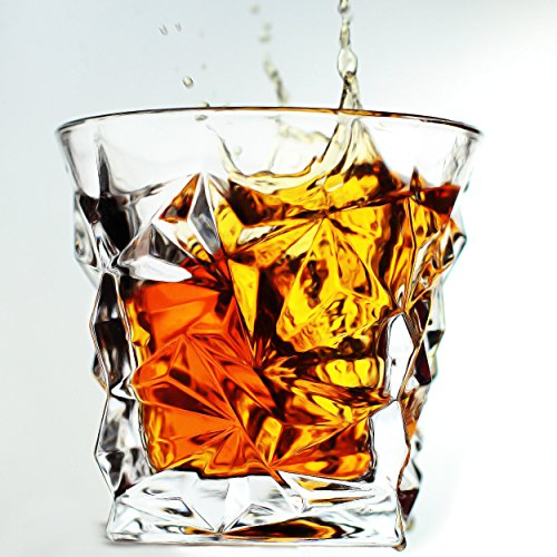 Luxury Crystal Clear Whiskey Glass on the Rocks Scotch Glasses by Magic Glass & Ice