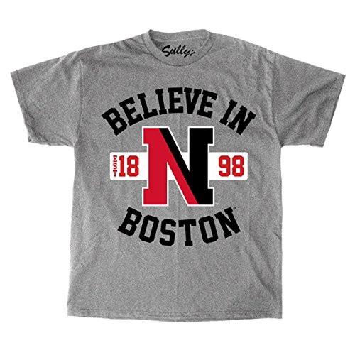 Sully's Brand Believe In Boston - Northeastern University - Grey T-Shirt