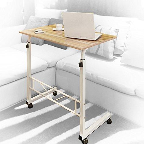 Laptop Desk Portable Cart Tray Wood Adjustable Side Table