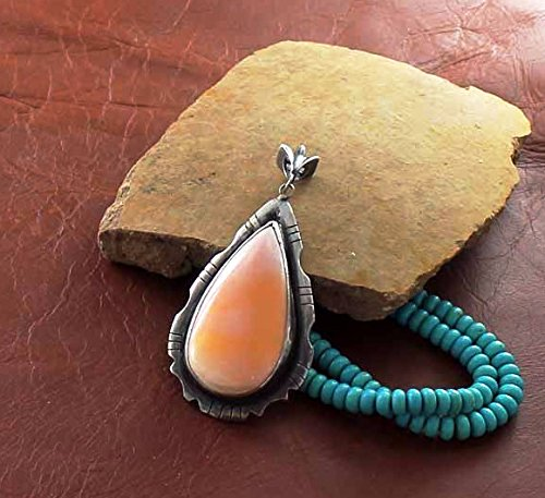 caliente SPINY OYSTER OYSTER OYSTER PENDANT Teardrop Sterling Southwest Style  calidad oficial