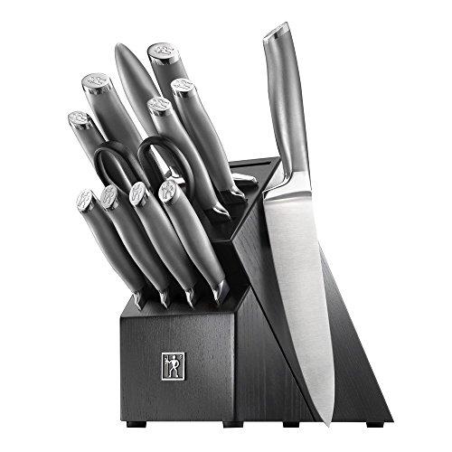 J.A. Henckels International Dynamic Kitchen Knife Set, 12-pc, Chef Knife Set, Knife Sharpener, Paring Knife, Utility…