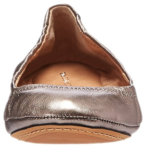 206 Collective Womens Parker Ballet Flat Pewter Metallic Leather Uh4hKyAD