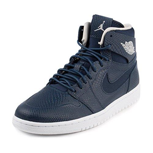 Nike Jordan Men's Air Jordan 1 Retro High Nouv Mid Nvy/Lght Bn White Infrrd 2 Basketball Shoe 10.5 Men US