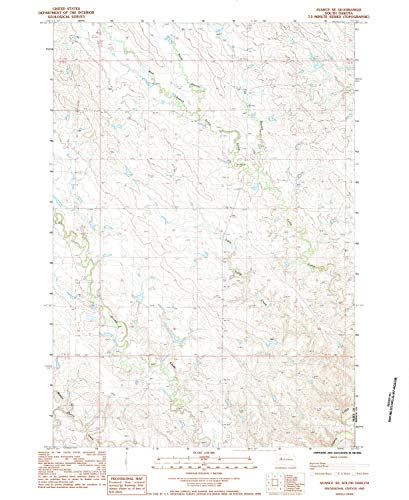 (YellowMaps Avance SE SD topo map, 1:24000 Scale, 7.5 X 7.5 Minute, Historical, 1983, Updated 1984, 26.9 x 22 in - Tyvek)