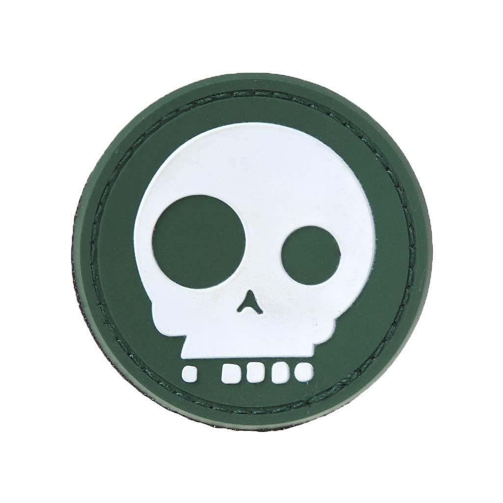 JERKKY Insignia de Goma del PVC 3D Moral t/áctico Brazalete Ropa de la Insignia Insignia Parche Suave 4#