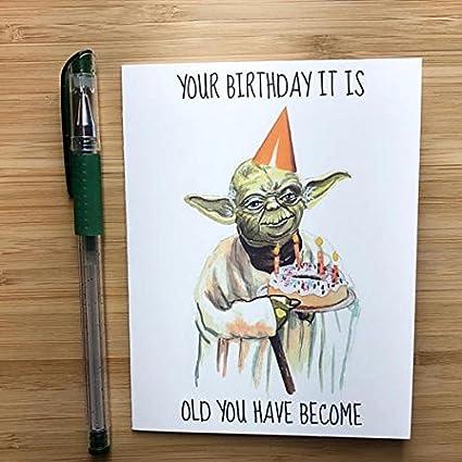 Amazon Com Yoda Birthday Card Office Products