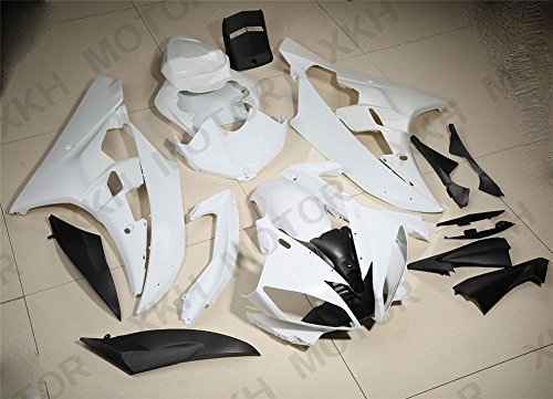 XKH Group UNPAINTED ABS Plastic Fairing Body work Set For YAMAHA YZF R6 YZF-R6 2006 2007