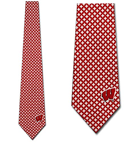 Wisconsin Ties Mens Diamante Necktie by Eagles Wings