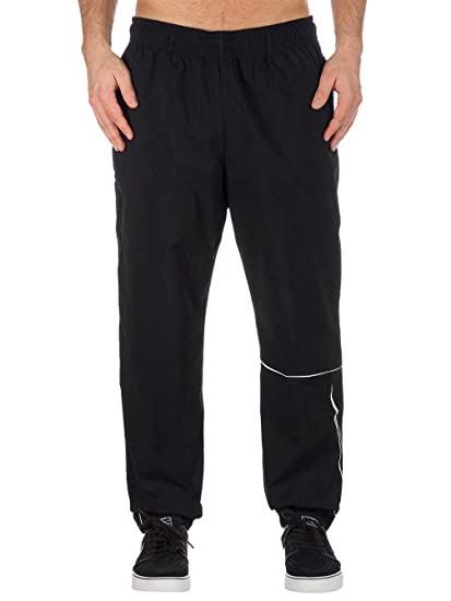 6da25d4b Image Unavailable. Image not available for. Color: Nike SB Swoosh Track  Pant Black/White ...