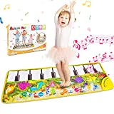 """WOSTOO Musical Piano Mat, 17 Keyboard Play Mat Music Dance Mat Dinosaur Touch Play Safety Learn Singing Early Education Toys Gift for Boys & Girls, 42.7"""" X 14.4"""""""
