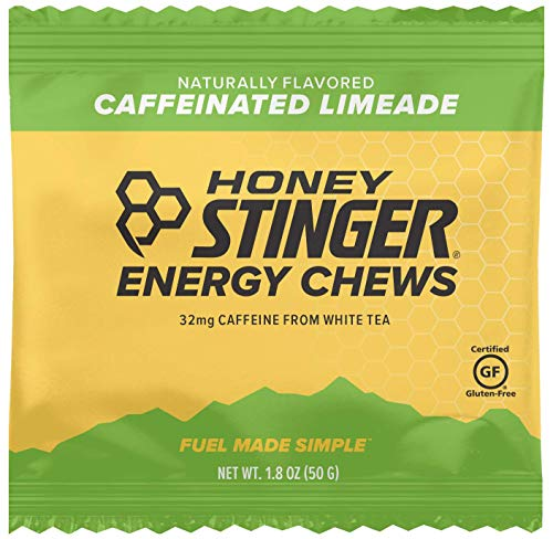 Honey Stinger Energy Chews, Limeade, Naturally Caffeinated, 1.8 Ounces (Pack of 12)