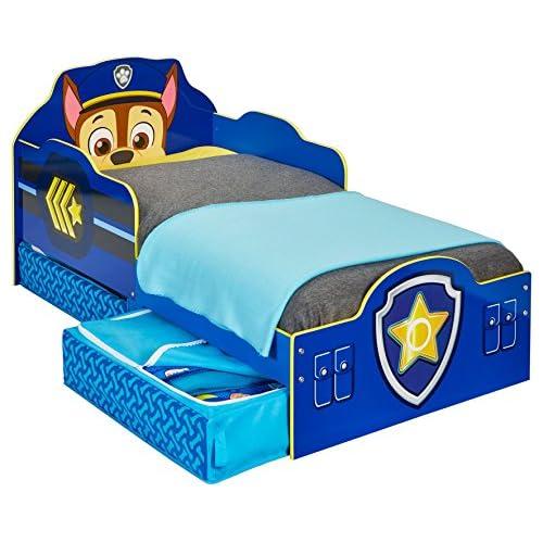 chollos oferta descuentos barato Paw Patrol Cama Infantil con Espacio de Almacenamiento Inferior Madera Azul 68 00x77 00x143 00 cm