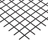 "12100ME080-36X48 PVC Coated Galvanized Steel Welded Wire Mesh, 1 x 1 Mesh Size, 84.6% Open Area, 5/64"" Wire Diameter, 36"" Width x 48"" Length, Black"