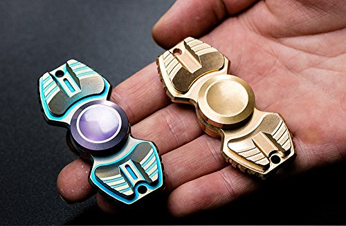 FREELOVE Armed Shark Armor Warrior Fidget Spinner Toy Stress Reducer Premium EDC Disassembly With 606 Stainless Steel Bearings Helps Focus, Stress, Anxiety, ADHD, Boredom. (Pure Brass, Gold) by FREELOVE (Image #5)