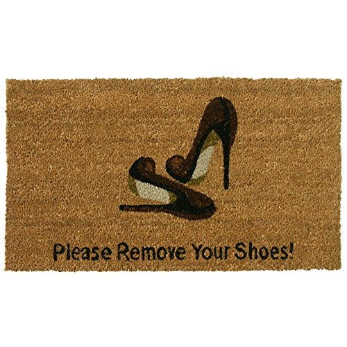 "Rubber-Cal ""Welcome & Please Remove Your Shoes Decorative We"