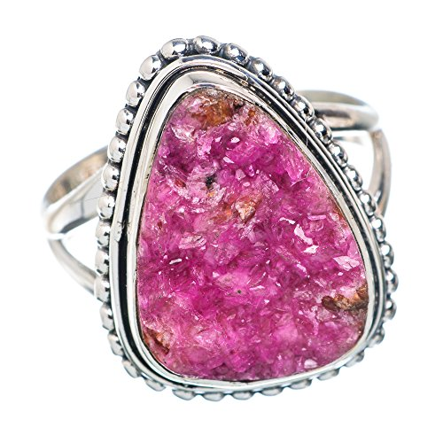 Cobalto Calcite Druzy Ring Size 7 (925 Sterling Silver) - Handmade Jewelry RING879151