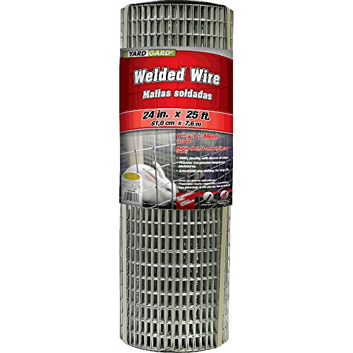 YARDGARD 309312A 24 inch by 25 foot 16 gauge 1 inch by 1 inch mesh galvanized welded wire (Wire Mesh Welded)