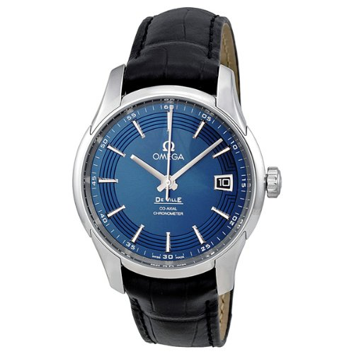 Omega DeVille - Reloj con Esfera Azul y Correa de Cuero 431.33.41.21.03.001: Amazon.es: Relojes