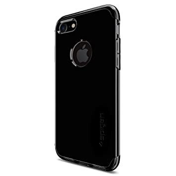 new concept 84539 b9256 iPhone 7 Case, Spigen® [Hybrid Armor] JET BLACK Optimized [Jet Black]  Semi-Transparent TPU/PC Frame Slim Dual Layer Premium Case for iPhone 7 -  ...