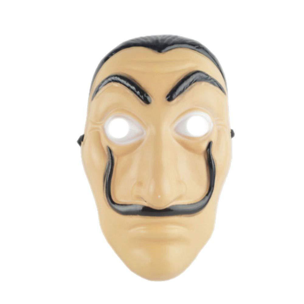 La Casa De Papel Mask Salvador Dali Mascara Money Heist Halloween Cosplay Props
