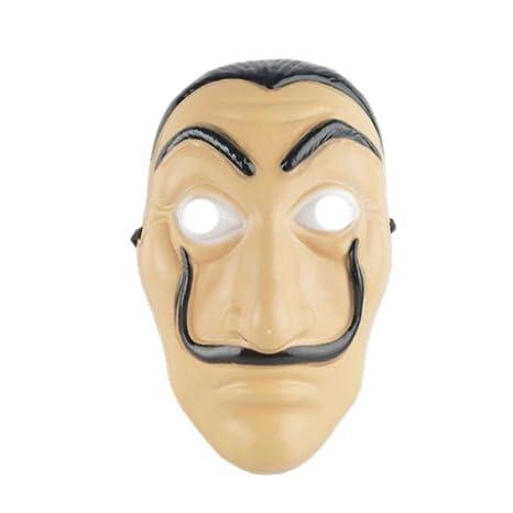 Raitron Máscara de la Casa de Papel Máscara Salvador Dalí Mascara Mascara Dinero Heist Cosplay Props Juguete