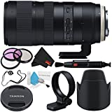 6Ave Tamron SP 70-200mm f/2.8 Di VC USD G2 Lens for Canon EF (International Model) + 77mm 3 Piece Filter Kit + Deluxe Cleaning Kit + Lens Cap Keeper + Lens Pen Cleaner + MicroFiber Cloth Bundle