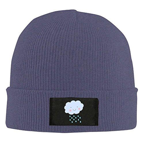 Burlingames Rain Clouds Storm Showers Unisex Woolen Hat Warm Winter Wool Watch Cap Navy