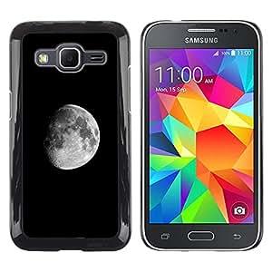 Caucho caso de Shell duro de la cubierta de accesorios de protección BY RAYDREAMMM - Samsung Galaxy Core Prime - Luna oscura